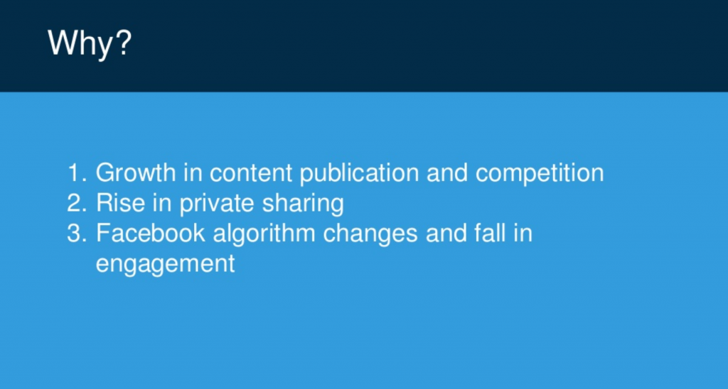 3 top reasons for decline in content sharing - BuzzSumo report 2018
